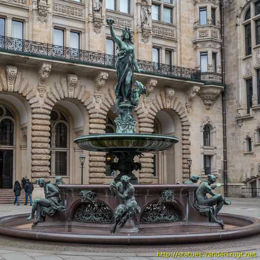 Brunnen Hamburg.Hamburg Hygieia Brunnen