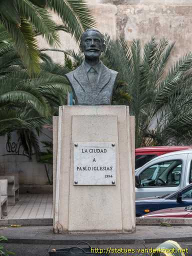 Resultado de imagen de BUSTO PABLO IGLESIAS LAS PALMAS DE GRAN CANARIA