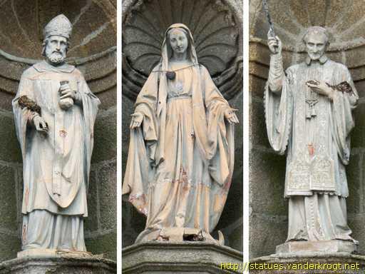 Dinan - Statues de saints sur la façade de la Chapelle Sainte-Catherine