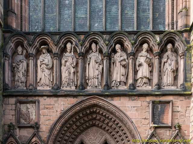 Lichfield /  Statues on the South Transept of Lichfield Cathedral