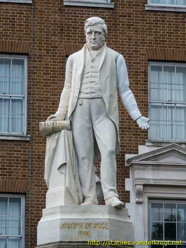 The statue in Birmingham of the renowned abolitionist, Joseph Sturge 1793-1859
