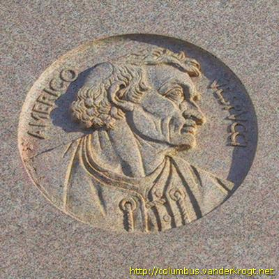 Chicago Columbus monument: Portrait of Amerigo Vespucci
