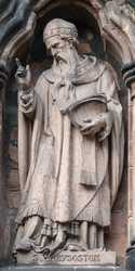 Lichfield - Statues on the South Transept of Lichfield Cathedral
