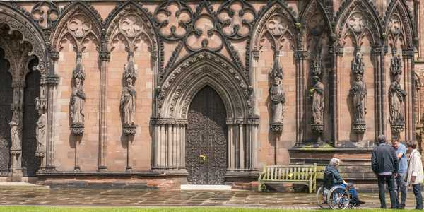Lichfield - Statues on the West Front of Lichfield Cathedral