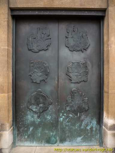 Norwich - Bronze Doors with Trades and History of Norwich